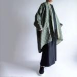 特集掲載の亀甲柄のビックシルエットジャケット