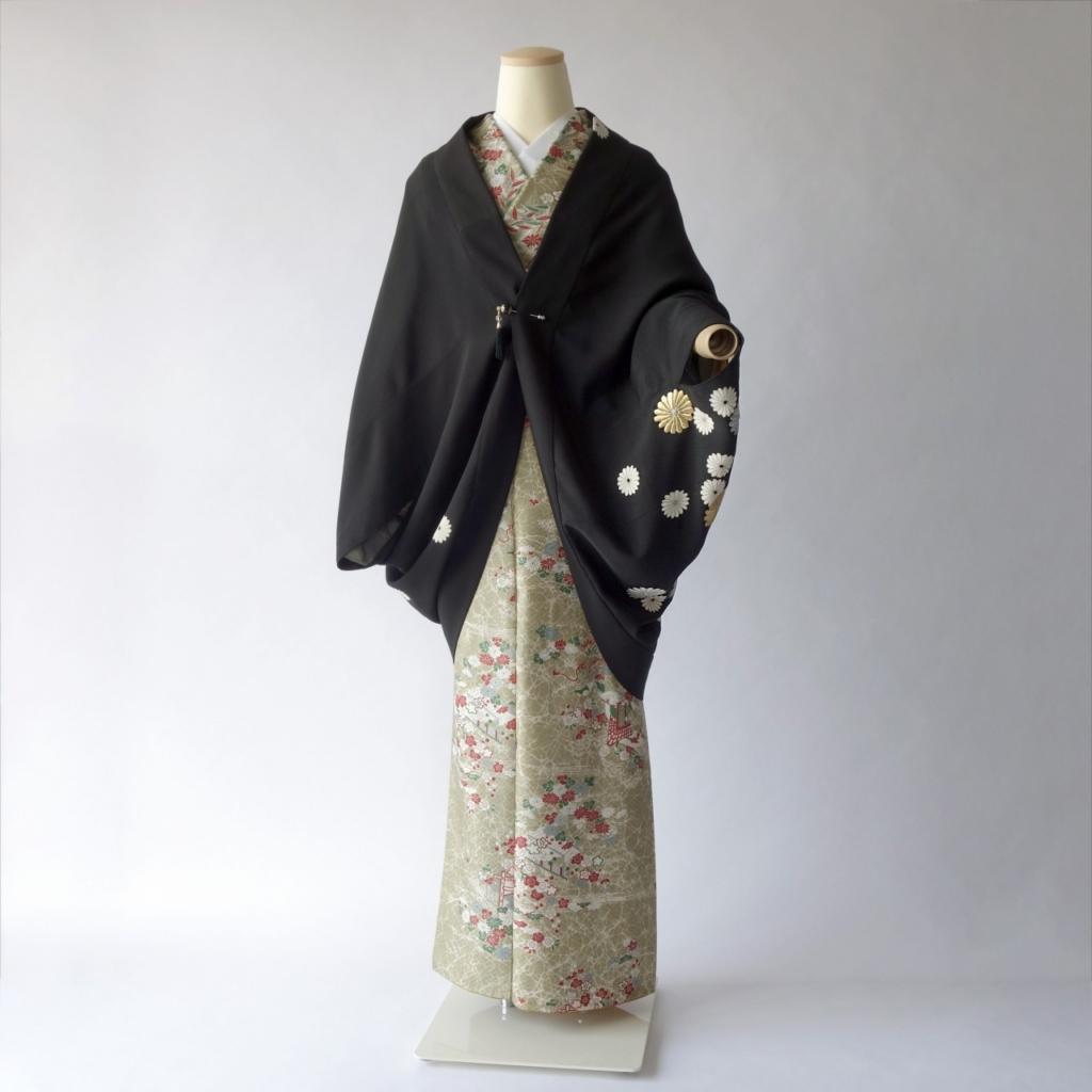 菊満開のモモンガ着物羽織