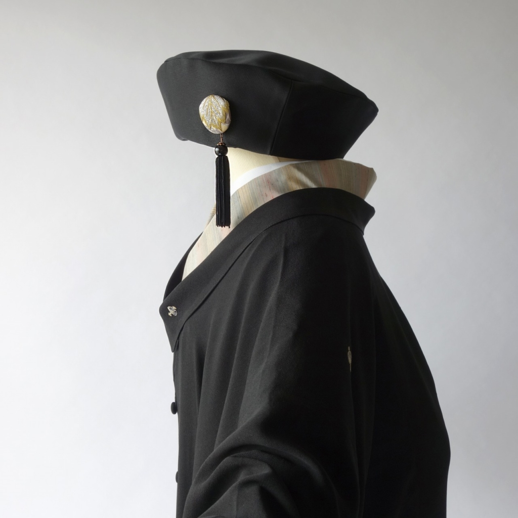 繻子帯の帽子rikyu