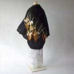 絽のカトレアモモンガ着物羽織