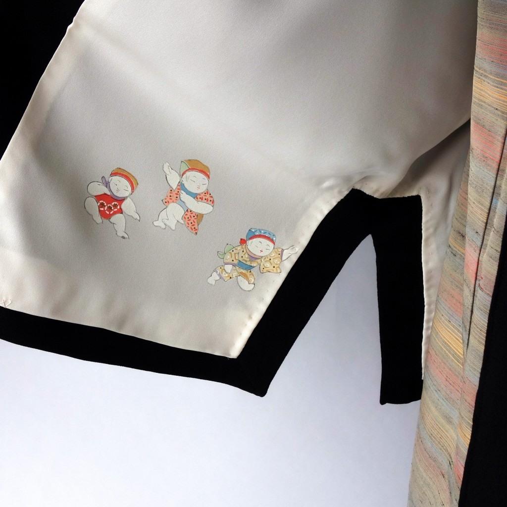 羽織から作った和洋兼用総裏ドレープアウター