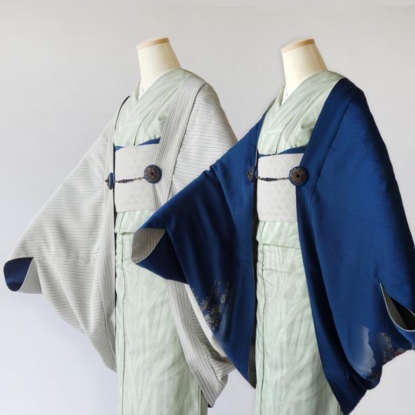 リバーシブル モモンガKIMONO羽織/ショールにもなる軽くて便利な万能着回しアイテム/着物、洋装にも