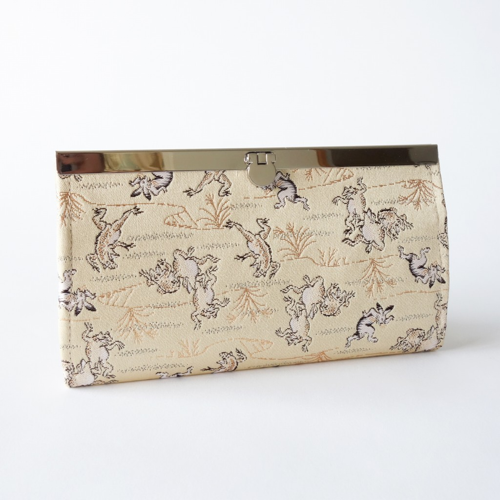 【受注製作】金襴地の長財布(鳥獣戯画)【納期2週間】