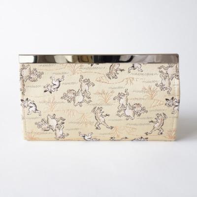 金襴地の長財布(鳥獣戯画)