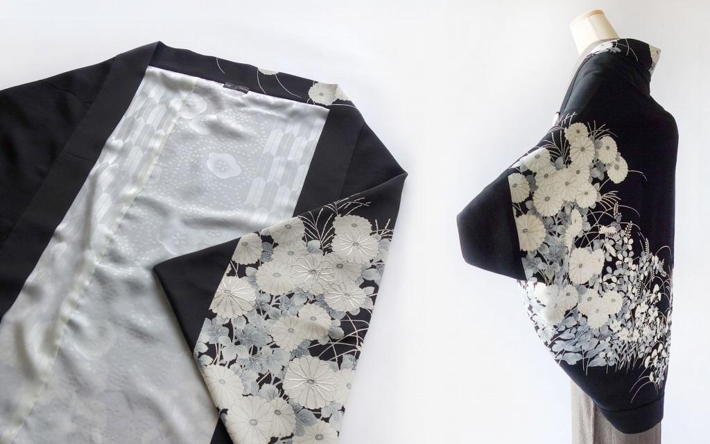 和遊湘南の黒留袖モモンガ羽織